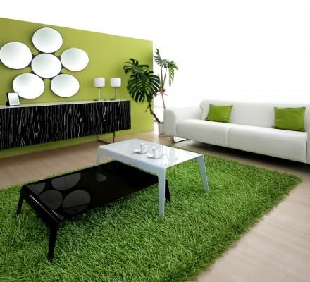 Original : un tapis en gazon synthétique pour une décoration nature