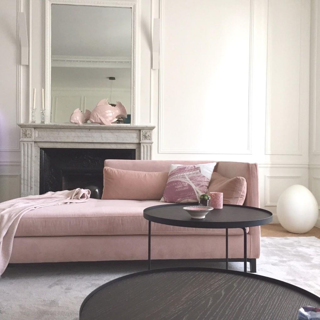 Deco Salon Gris Rose couleurs pantone 2016 : rose quartz et serenity : le blog du sol